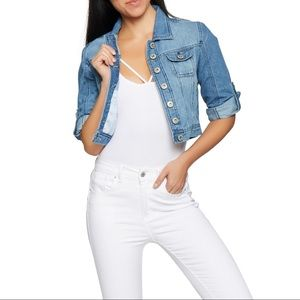 Highway Jeans cropped button-down jean jacket S